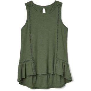 NWT Gap Army Green Sleeveless Tank Women's Size L